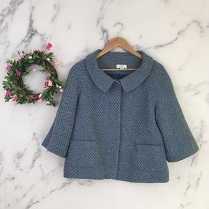 Ann Taylor LOFT Wool Blend Tweed Coat